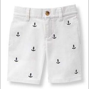 Anchor white shorts Janie & Jack
